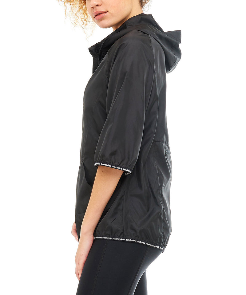 Boudavida Elements Pac-a-Mac Packable Rain Jacket Black
