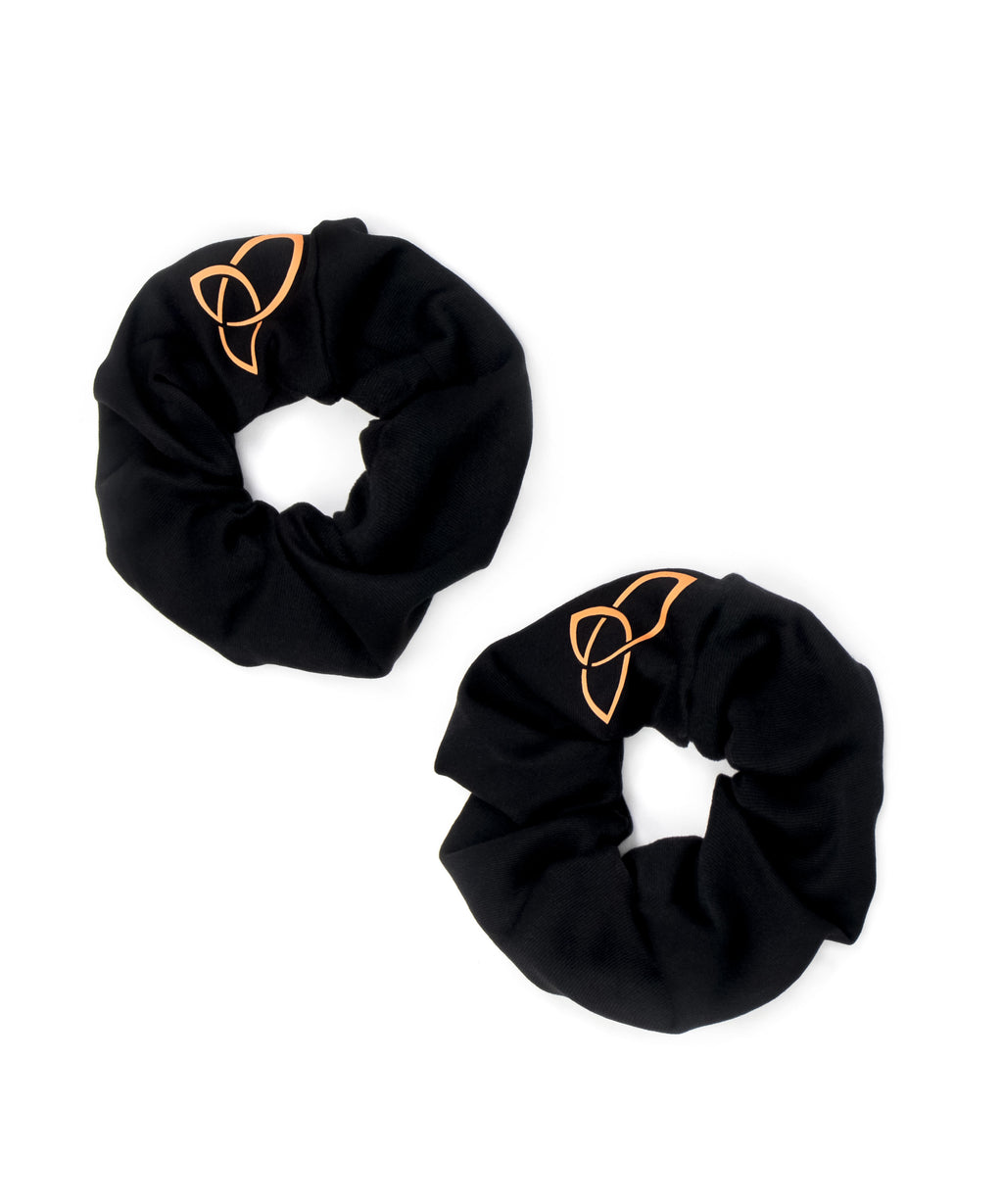 Boudavida Pack of Two Hair Scrunchies Black