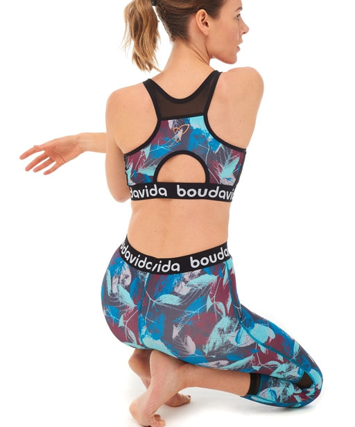 Boudavida Spirit Crop Top in leaf print