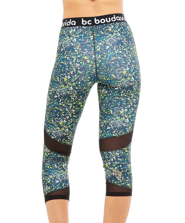 Boudavida 3/4 Zoom Leggings in spatter print
