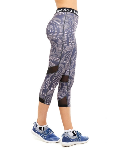 Boudavida 3/4 Zoom Leggings in rose print