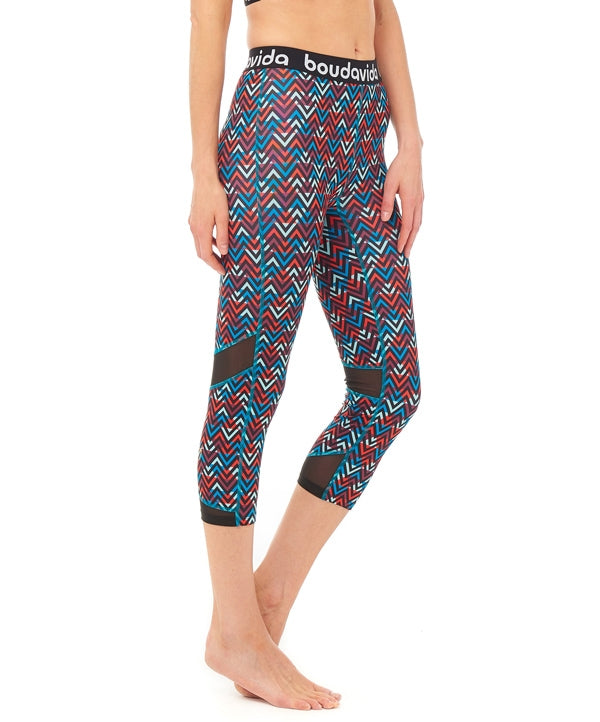 Boudavida 3/4 Zoom Leggings in zig zag print
