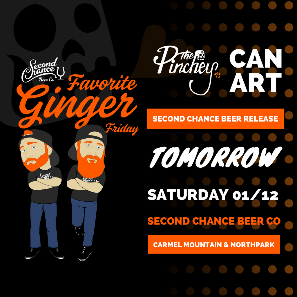 Tomorrow! Can art collaboration with Second Chance Beer Co.