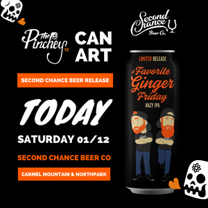 Today! Can art collaboration with Second Chance Beer Co.