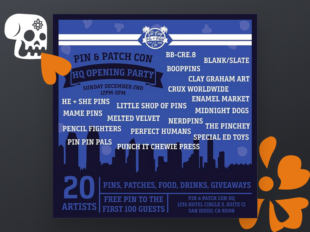 Show Alert - The Pin and Patch Con HQ Opening Party