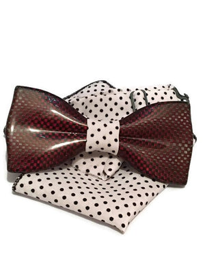 Red mens bow tie from carbon fiber 06_01