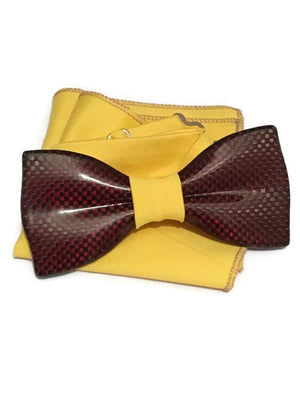 Red mens bow tie from carbon fiber 06_03