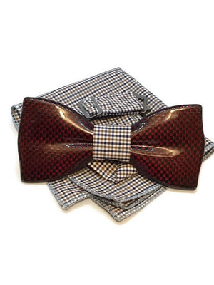 Red mens bow tie from carbon fiber 06_04