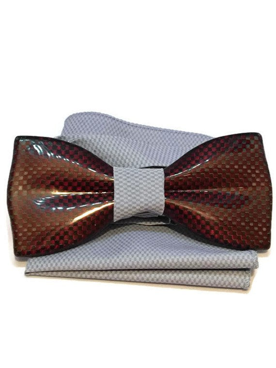 Red mens bow tie from carbon fiber 06_06
