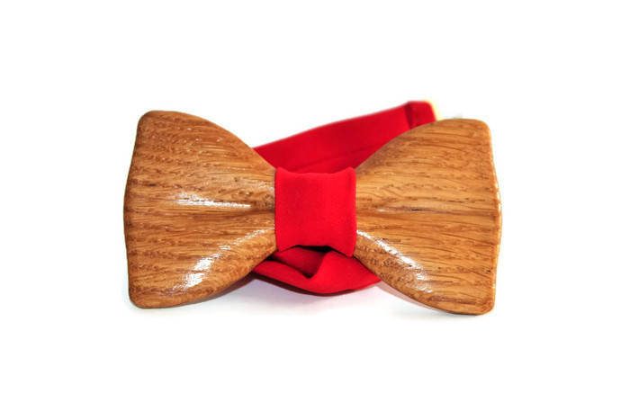 Handmade bow tie made of wood unusual mens accessories original boys presents.