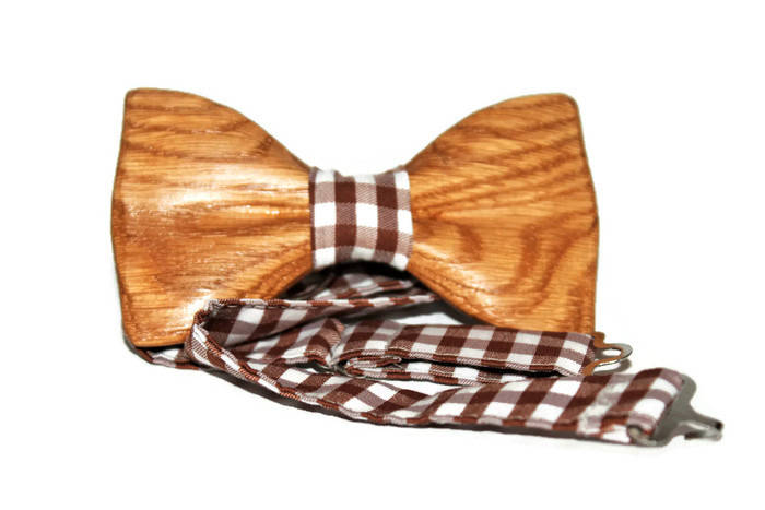 Oak Wooden Bow Tie Hand Made Wood Bow Ties Mens Bow Ties Groomsmen Gifts Bowties