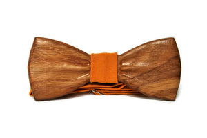 Mens wooden bow tie with pocket square. Wood Handmade BowTie. Wood bow tie.
