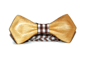 Wood bow tie with unique design. Wooden bow tie best gift idea for men, husband and friend.