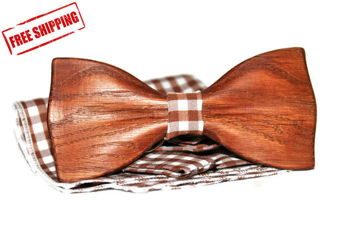 Accessories For Men, Gift for Man, Custom bow tie, Wooden bow tie, Wood Bow Tie, Personalized Bowtie