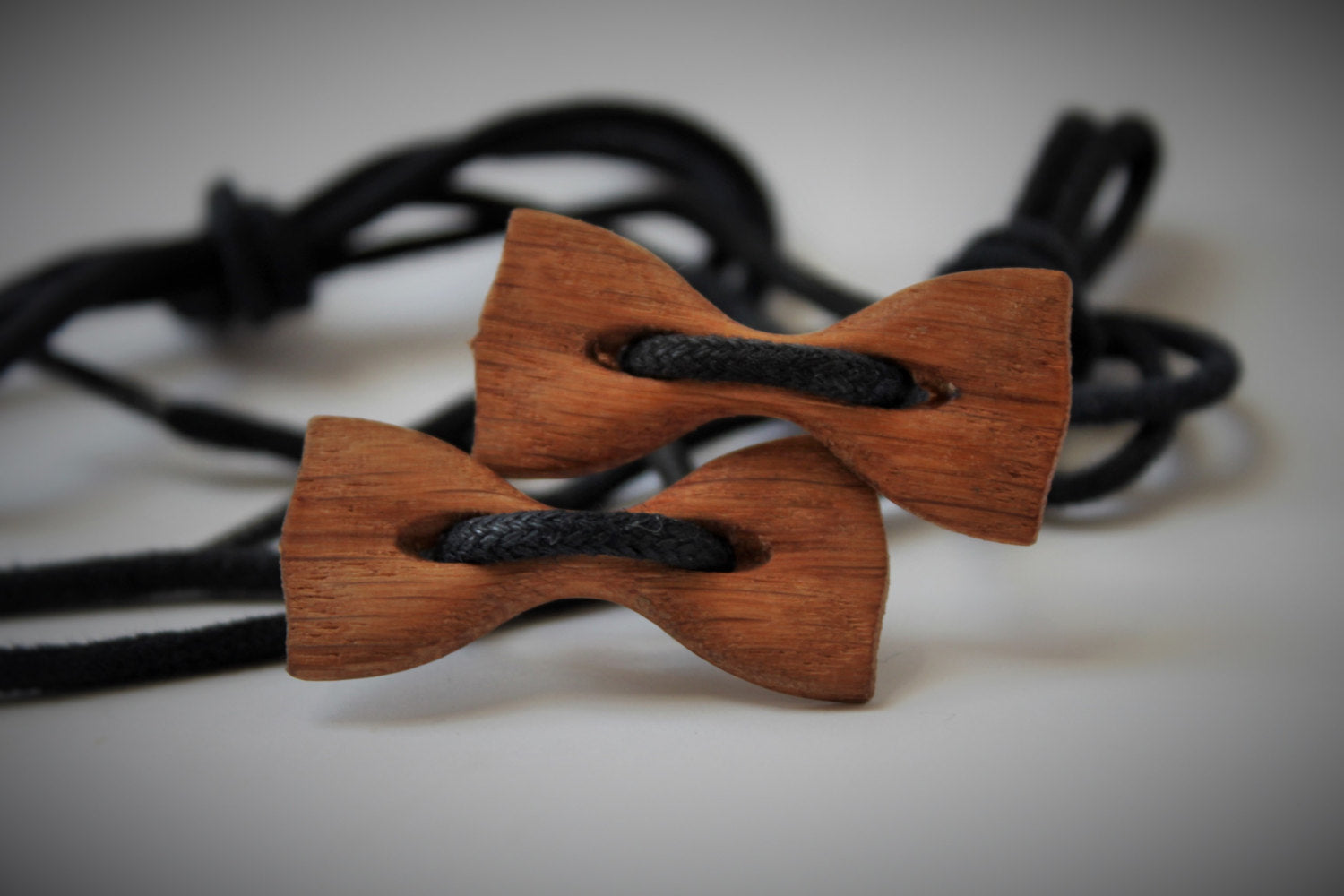 Set of two mens wooden bow tie shoes. wood shoes bow tie. handmade bowtie for shoes