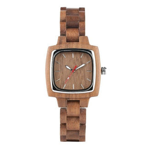 Top Royal Walnut Wooden Watches Men's Watch Retro Square Analog Dial Quartz Watch Unique  Anniversary Love Gifts for Men Women