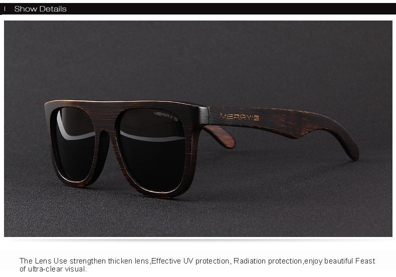 Men's sunglasses made from wood black