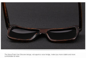Handcrafted black wooden sunglasses for men