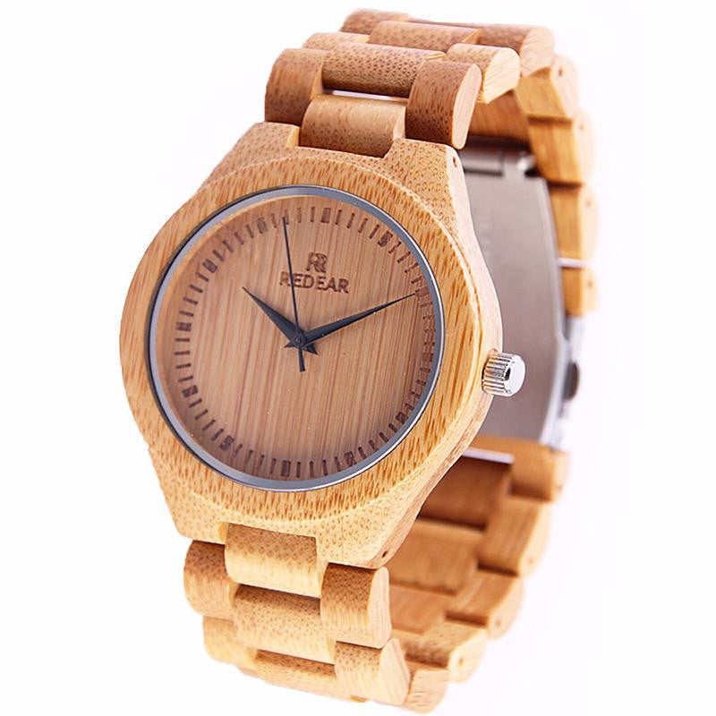 Top Brand Watch Men Wooden Watch Fashion Wood Men'S Watch