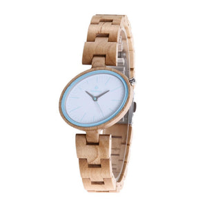 Handmade watches made of wood brown
