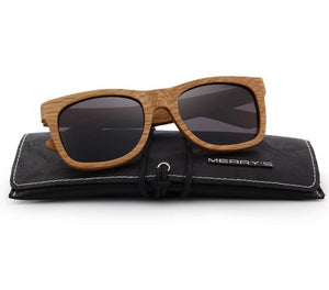 Brown mens wooden sunglasses UV Protection S5140