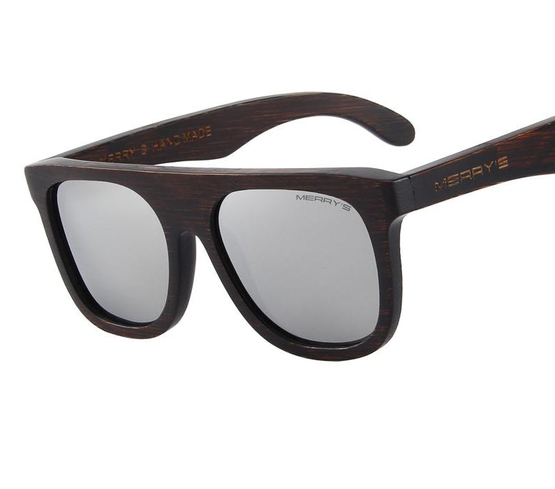 Men's sunglasses made from wood