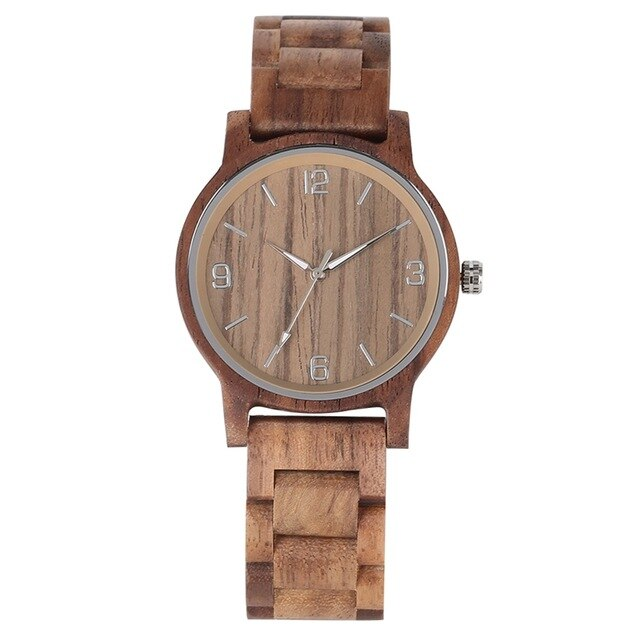 4 Types Full Wooden Watch for Men Clock Male Simple Pure Dial Retro All Wood Band Men's Quartz Wrist Watches reloj para hombre