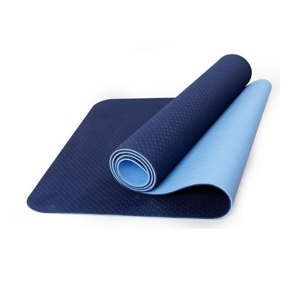 Yoga mat TPE fitness tapete Thick Non-slip Gym fitness body building esterilla Pilates gymnastics Exercise yoga mats 183*61*6mm - yogaafford