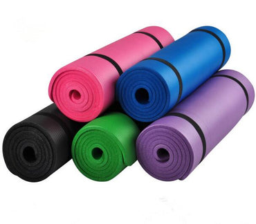 10mm Thick exercise Yoga Mat Pad Non-Slip Lose Weight Exercise Fitness folding gymnastics mat for fitness BR156 - yogaafford