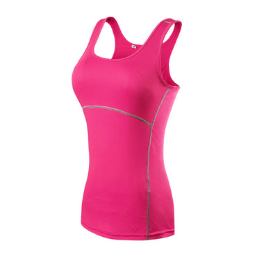 Yoga Shirt Sport Running  Quick Dry Vest High elasticity Tight fitting fitness Women GYM Clothing bodybuilding T shirt - yogaafford