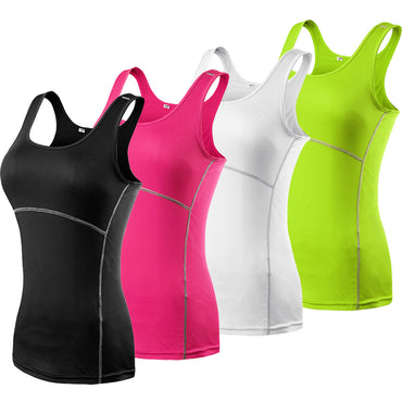 New Yoga Tops Women Sexy Gym Sports Vest Fitness Running Tight Woman Sleeveless Shirt Quick Dry Fit Tank Top Yoga Wear Clothing - yogaafford