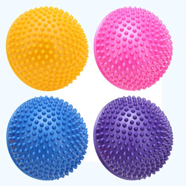 Yoga Half Ball Physical Fitness Appliance Exercise Balance Ball Point Massage Stepping Stones Yoga Balls Fitness for Home Gym - yogaafford