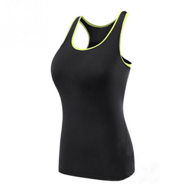 Yoga Shirt Sport Running Vest Women Compression Sleeveless Quick Dry Fit Tank Top Fluorescence Outdoor Sports GYM Clothing - yogaafford