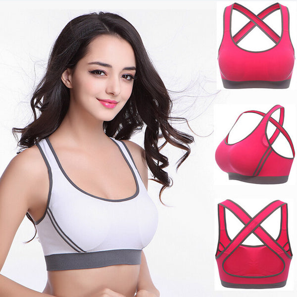Women's Criss-Cross Sports Bra - yogaafford