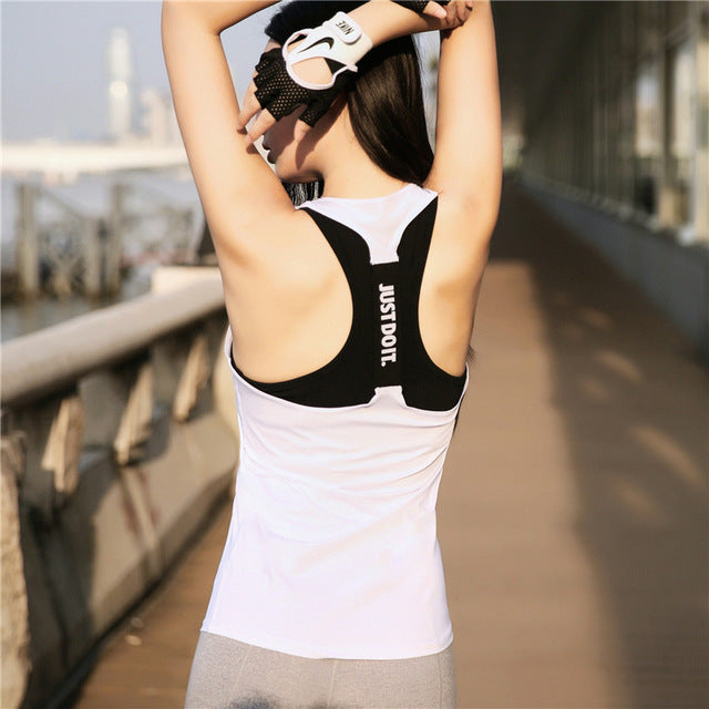 Professional Yoga Top Vest Sleeveless Sport Shirt Women Running Gym Shirt Women Sport Jerseys Fitness Yoga Shirt Tank Top - yogaafford