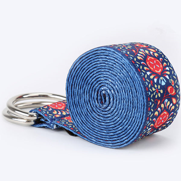 Colorful Yoga Stretch Strap - yogaafford