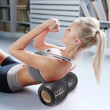Foam Massage Roller Yoga Bolster Block Tools Fitness Gym Exercises Yoga Foam Roller for Pilates Myofascial Release - yogaafford
