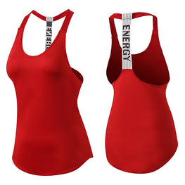 Yuerlian New Breathable Backless Yoga Vest Solid Quick Drying Running Gym Sport Yoga Shirt Women Fitness Sleeveless Red Tank Top - yogaafford