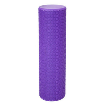 1Pc 30*10CM  Foam Roller EVA Floating Point Solid Accupoint Massage Fitness Muscle Tissue Yoga Pilates Rol Random Color - yogaafford