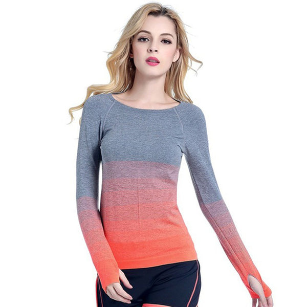 Gradient Women's Yoga T-shirt - yogaafford