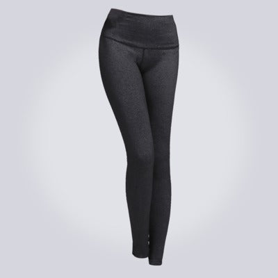 Women's Solid High-Waist Yoga Leggings - yogaafford