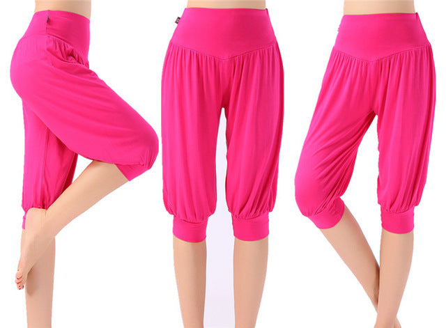 Women Yoga Pants Plus Size || Check out High Quality Yoga Leggings  with Colorful Bloomers Dance Yoga Pants - yogaafford