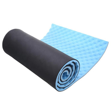 1.5cm Thick Yoga Mat Single Outdoor Exercise Sleeping Camping Yoga Mat with Carrying Straps EVP Blue Utility Yoga Mats Fitness - yogaafford