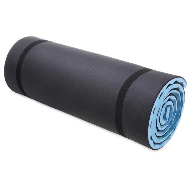 Jusenda 1.5cm Yoga Mat with Carrying Straps - Blue - yogaafford