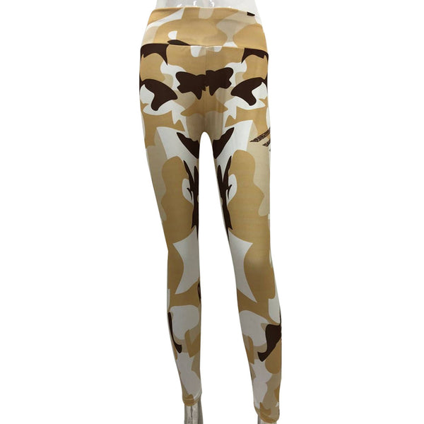 Women's Camo Print Performance Leggings - yogaafford