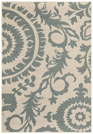 Alfresco Indoor Outdoor Collection 6509 Teal Rug
