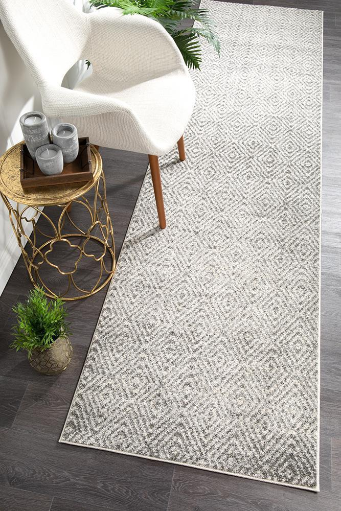 Aspect Riverside Ripple Grey Runner Rug