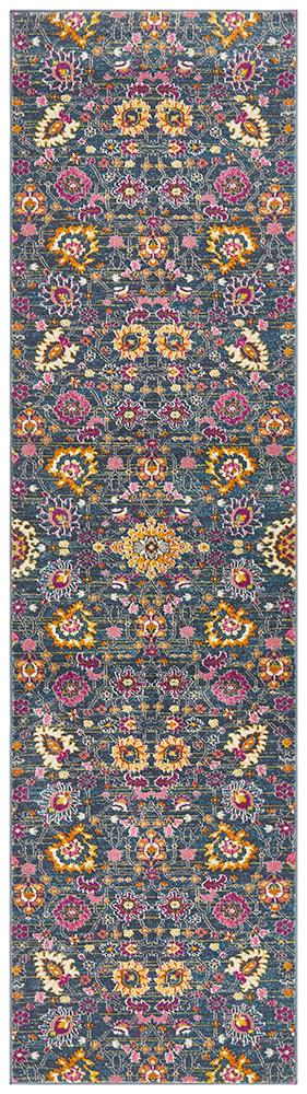 Babylon 210 Blue  Runner Rug