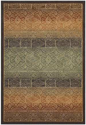 Byblos Tribal Design Brown Rug