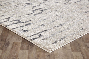 Capri Abigail Bone And Grey Modern Rug